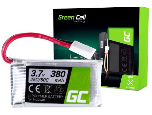 Batterie Green Cell ® pour Hubsan H107 H107C H107CHD H107L 3.7V 380mAh