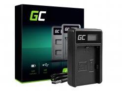 Chargeur de batterie de caméra LC-E6 Green Cell ® pour Canon LP-E6, EOS 70D, 5D Mark II/ III, 80D, 7D Mark II, 60D, 6D, 7D