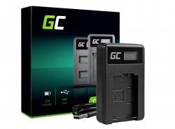 Chargeur de batterie de caméra DE-A83 Green Cell ® pour Panasonic DMW-MBM9, Lumix DMC-FZ70, DMC-FZ60, DMC-FZ100, DMC-FZ40