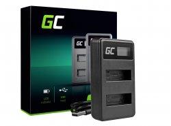 Chargeur AHBBP-401 Green Cell ® pour GoPro HERO 4 CHDBX CHDBY CHDHX CHDHY Black White Silver Edition (4.2v 2.5w 0.6A)