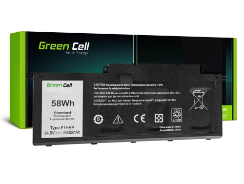 Green Cell Batterie F7HVR 62VNH G4YJM 062VNH pour Dell Inspiron 15 7537 17 7737 7746 P24E