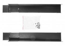 """Rails de montage pour armoires 19 """"Rack, longueur modulable 600mm-800mm, ensemble de 2 pièces"""