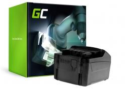 Batterie Green Cell (3Ah 18V) 625596000 625592000 625342000 625591000 6.25455 pour Metabo AHS 18-55 V BS 18 LI SSE SSW STA