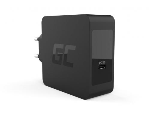 Chargeur Green Cell USB-C 60W PD avec câble USB-C pour Apple MacBook Pro 13, Asus ZenBook, HP Spectre, Lenovo ThinkPad et autres