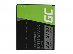 Green Cell ® Batterie BL259 pour Lenovo K3 K5 K5 Plus C2 Lemon 3