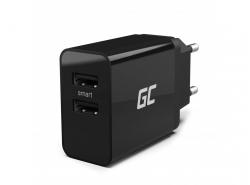 Chargeur Green Cell 2xUSB 18W avec chargement rapide et intelligent
