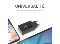 Chargeur universel Green Cell ® avec fonction de charge rapide 3 ports USB, QC 3.0