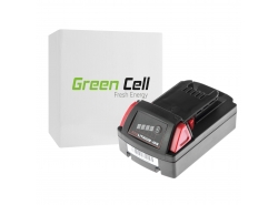 Green Cell ® Batterie 48-11-1830 pourvisseuse perceuse Milwaukee C18 M18 18V 2000mAh