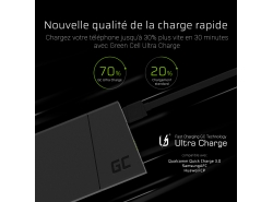 Power Bank Green Cell PRIME 10000mAh avec technologie de charge rapide Ultra Charge