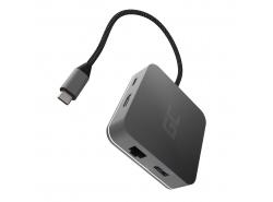 Station d'accueil HUB Green Cell USB-C 7 en 1 (USB-C, USB 3.0, 2xUSB 2.0, HDMI 4K, microSD, SD) avec PD et Samsung DeX