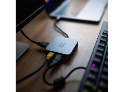 Station d'accueil HUB Green Cell USB-C 6 en 1 (USB 3.0 HDMI Ethernet USB-C) avec PD et Samsung DeX