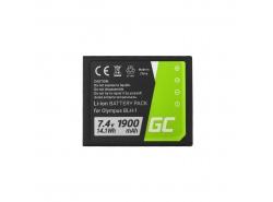 Green Cell ® Batterie BLH-1 pour Olympus OM-D E-M1 Mark 2 7.4V 1900mAh