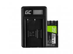 Green Cell ® Batterie EN-EL9 / EN-EL9E et Chargeur MH-23 pour Nikon D-SLR D40 D40A D40C D40X D60 D3000 D5000