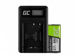 Green Cell ® Batterie NP-BG1 et Chargeur BC-CSG pour Sony DSC H10, H20, H50, HX5, HX10, T50, W50, W70