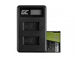 Green Cell ® Batterie AHDBT-201 et Chargeur AHBBP-301 pour GoPro Hero HD 3 3+ Black Silver White