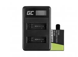 Green Cell ® Batterie AHDBT-401 et Chargeur AHBBP-401 pour GoPro Hero 4 Black Silver 1100mAh