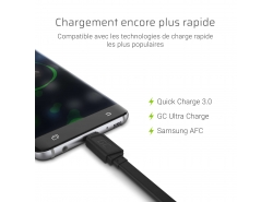 Green QC 3.0, GC Ultra Charge, Samsung AFC, Huawei FCP / SCP