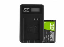 Green Cell ® Batterie EN-EL23 et Chargeur MH-67 pour Nikon Coolpix B700, P600, P610, P900, S810C