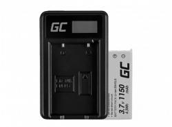 Green Cell ® Batterie EN-EL5 et Chargeur MH-61 pour Nikon Coolpix P100, P500, P530, P520