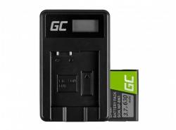 Green Cell ® Batterie NP-BN1 et Chargeur BC-CSN pour Sony Cyber-Shot DSC-QX10 DSC-QX100 DSC-TF1 DSC-TX10 DSC-W530