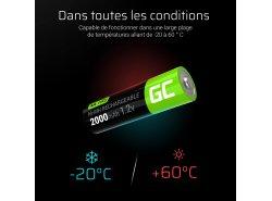 Green Cell 2x AA HR6 2000mAh Batterie
