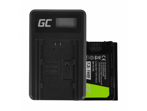 Green Cell Batterie NP-FZ100 et Chargeur BC-QZ1 pour Sony Alpha 9 9R 9S A7 III A7R III A9 A9R