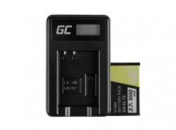Green Cell Batterie EN-EL12 et Chargeur MH-65 pour Nikon Coolpix AW100 AW120 S9500 S9300 S9200 S9100 S8100 S6300