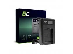 Chargeur de batteries DE-A65BB Green Cell pour Panasonic DMW-BCG10 Lumix DMC-TZ10 DMC-TZ20 DMC-TZ30 DMC-ZS5 DMC-ZS10 DMC-ZX1
