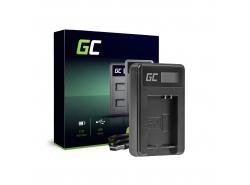 Chargeur de batteries CB-2LCE Green Cell pour Canon NB-10L PowerShot G15, G16, G1X, G3X, SX40 HS, SX40HS, SX50 HS