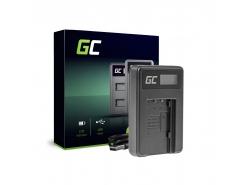 Chargeur de batteries VW-BC10 Green Cell pour Panasonic VW‑VBT190 HC-250 HC-V130 HC-V510 HC-V770 HC-W580 HC-WX970
