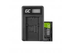 Green Cell ® Batterie NP-FH50 pour Sony DCR-HC45, DCR-SR300E, DCR-SR70, DCR-SX50E 7.4V 650mAh