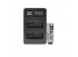 Green Cell ® Batterie LP-E8 et Chargeur LC-E6 pour Canon PowerShot G15 G16 G1X G3X SX40 HS SX40HS SX50 HS SX60 HS 7.4V 800mAh