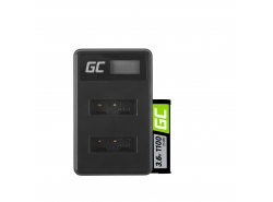 Green Cell ® Batterie NP-BX1 et Chargeur BC-TRX pour Sony Action Cam HDR-AS10 HDR-AS20 HDR-AS300 HDR-AS50 FDR-X1000V