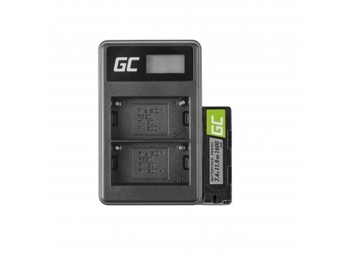 Green Cell ® Batterie NP-500 et Chargeur BC-V615 pour Sony A58, A57, A65, A77, A99, A900, A700, A580