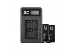Green Cell ® 2x Batterie EN-EL3 et Chargeur MH-18 pour Nikon DSLR D100 D200 D300 D50 D70 D80
