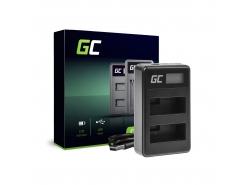 Chargeur de batteries LC-E8 Green Cell pour Canon LP-E8 Rebel T2i, T3i, T4i, T5i, EOS 600D, 550D, 650D, 700D, Kiss X5, X4, X6