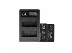 Green Cell ® Batterie EN-EL14 et Chargeur MH-24 pour Nikon D3200, D3300, D5100, D5200, D5300, D5500 P7000, P7700