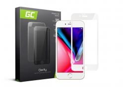 Green Cell PRO GC Clarity Verre Trempe pour iPhone 7/8 Écran Tempered Glass, Ecran 3D Incurvés Bords Couverture Écran 9H