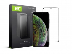 Green Cell PRO GC Clarity Verre Trempe pour iPhone XS Max Écran Tempered Glass, Ecran 3D Incurvés Bords Couverture Écran 9H