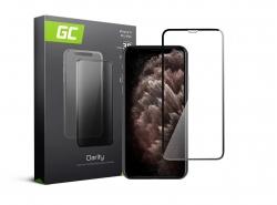 Green Cell PRO GC Clarity Verre Trempe pour iPhone 11 Pro Max Écran Tempered Glass, Ecran 3D Incurvés Bords Couverture Écran 9H