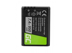 Green Cell ® Batterie LP-E10 pour Canon EOS Rebel T3, T5, T6, Kiss X50, Kiss X70, EOS 1100D, EOS 1200D, EOS 1300D 7.4V 950mAh