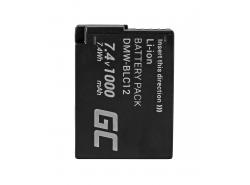 Green Cell ® Batterie DMW-BLC12 pour Panasonic FZ2000, G81, FZ1000, FZ300, G6M, GX8M, G70M, G70KA, GX8EG-K, GX8 7.4V 1000mAh
