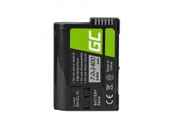 Green Cell ® Batterie EN-EL15 pour Nikon D850, D810, D800, D750, D7500, D7200, D7100, D610, D600 7.0V 1400mAh