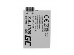 Green Cell ® Batterie LP-E8 pour Canon EOS Rebel T2i, T3i, T4i, T5i, EOS 600D, 550D, 650D, 700D, Kiss X5, X4, X6 7.4V 1100mAh