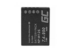 Green Cell ® Batterie NP-W126 pour Fujifilm FinePix HS30EXR HS33EXR HS50EXR X-A1 X-A3 X-E1 X-E2 X-M1 X-T1 X-T2 7.4V 950mAh