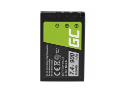 Green Cell ® Batterie BLS-5 / BLS-50 pour Olympus OM-D E-M10, PEN E-PL2, E-PL5, E-PL6, E-PL7, E-PM2, Stylus 1 7.4V 900mAh
