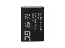 Green Cell ® Batterie LP-E12 pour Canon EOS M100, EOS100D, EOS-M, EOS M2, EOS M10, Rebel SL1 7.4V 820mAh