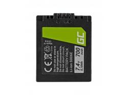 Green Cell ® Batterie DMW-BMA7/CGA-S006 pour Panasonic DMC FZ35, FZ7, FZ8, FZ18, FZ30, FZ50 7.4V 700mAh