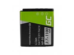 Green Cell ® Batterie NP-50 pour FujiFilm F100, F200, F300, F500, F600, F700, F80, X10, X20 3.7V 750mAh
