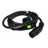 Câble Green Cell GC Type 2 pour le chargement Tesla Leaf Ioniq Kona E-tron Zoe 22kW 5 mètres avec étui